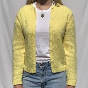 Vintage Robert Scott LTD Yellow Knit Cardigan